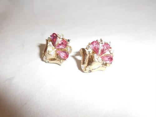 コロピンクイヤリング(ビンテージ) CORO vintage earrings (made in U.S.A)