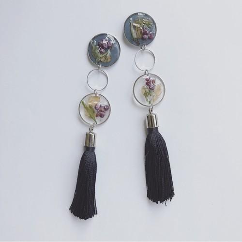 petal tassel pierce / earring (silver)