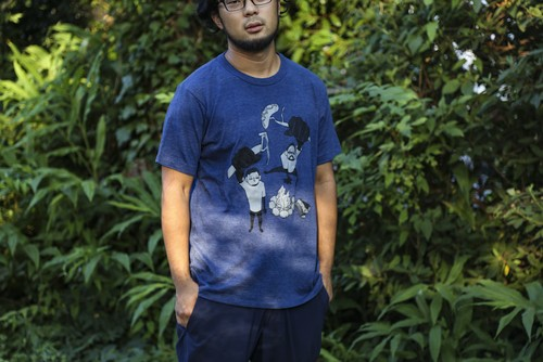 WTL NEW Tシャツ drawn by yomyom【ネイビー】