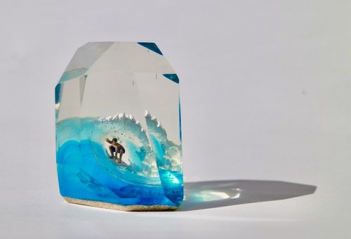 CRYSTAL CUBE L size 70's Tube Rider
