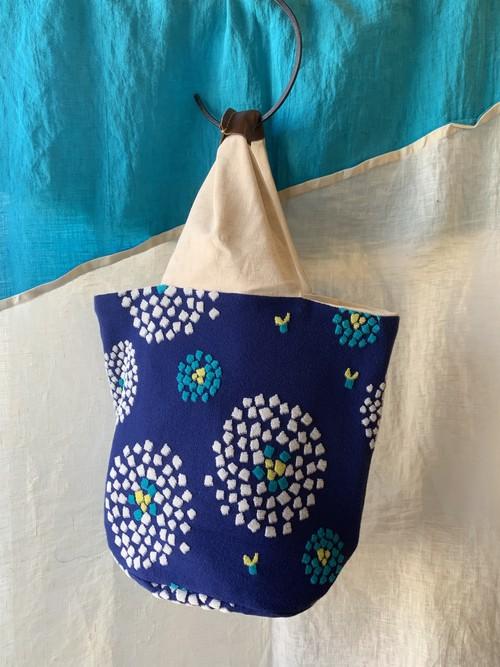 【bucket bag】hanabi/ブルー/original design