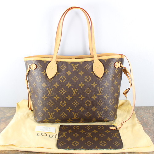 .LOUIS VUITTON M40155 AR1164 MONOGRAM PATTERNED TOTE BAG MADE IN FRANCE/ルイヴィトンネヴァーフルPMモノグラム柄トートバッグ 2000000041247
