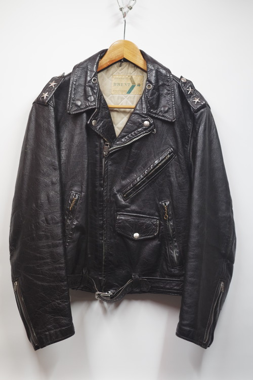 50's BRENT Double Riders Jacket Two Star(黒)