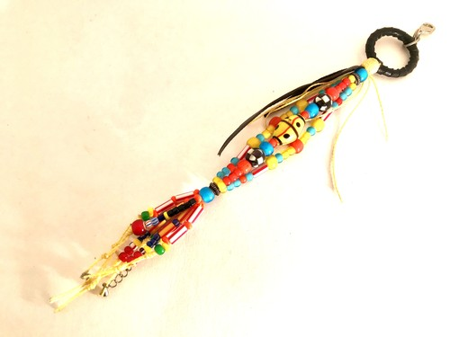 Antique beads Key holder/Mahana noriko/約25cm