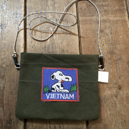 Vintage Tent Cloth Sacoche with patch, Vietnam