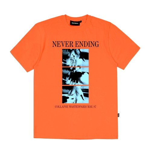 WASTED PARIS Never Ending T-Shirts ORANGE