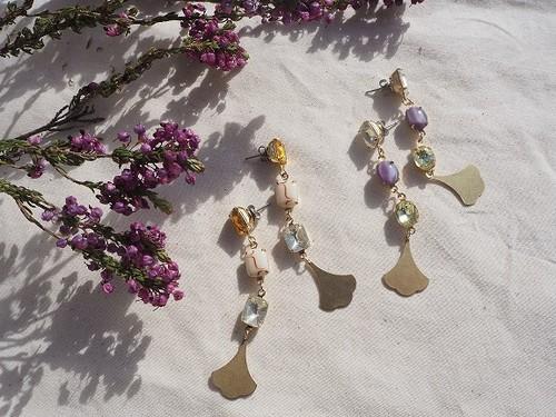 vintage color bijou pierce/earrings