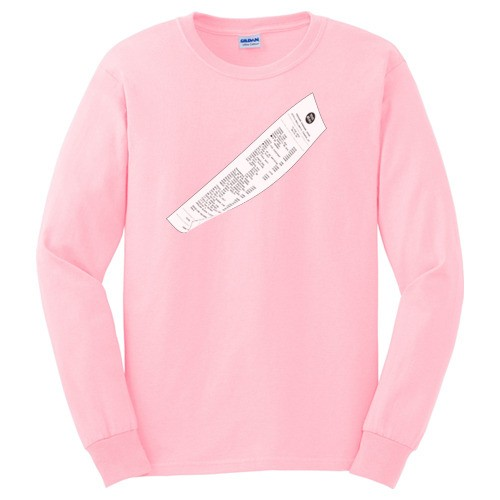 RECEIPT LONG SLEEVE TEE SHIT(SHIRT)