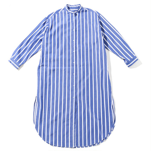 LONG SHIRT ONE PIECE [ BLUE STRIPE ]