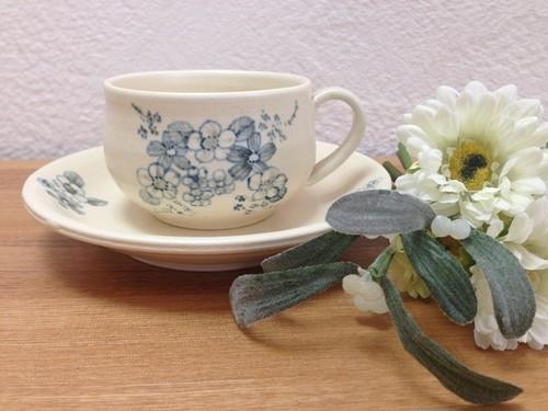 きしま陶房 花束ティーカップ&ソーサー