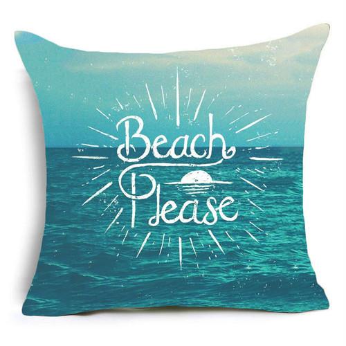 爽やかな海が描かれたクッションカバー♪ BD57