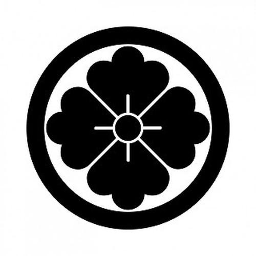 丸に花角 高解像度画像セット