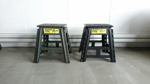 【G008】 クラフタースツール Lサイズ 踏み台 折り畳み コンパクト
