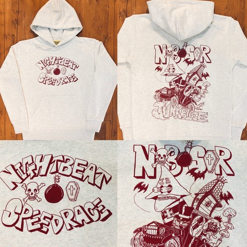 "【 NIGHTBEAT 】 ナイトビート ""NIGHTBEAT SPEED RACE HOODY ""  スエットパーカー"