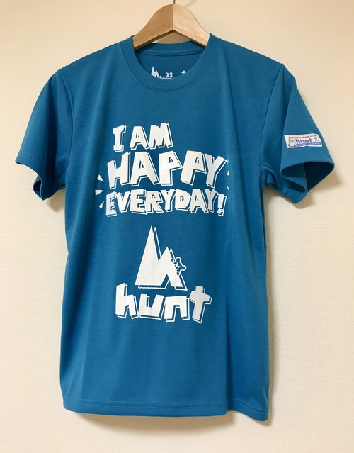 hs-29 ACTIVE 『HAPPY』 T-SHIRT ・ターコイズブルー