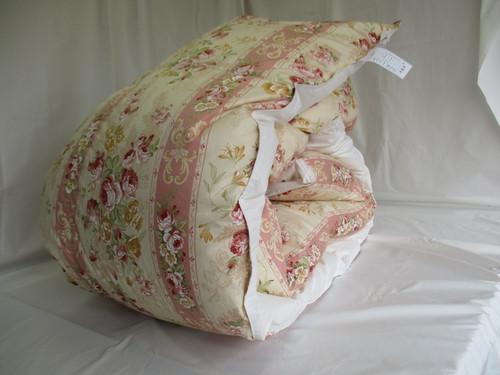 羽毛布団 シングルサイズ ピンク系エンパイアローズ