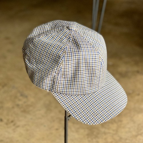 Deadstock fabric gingham cap