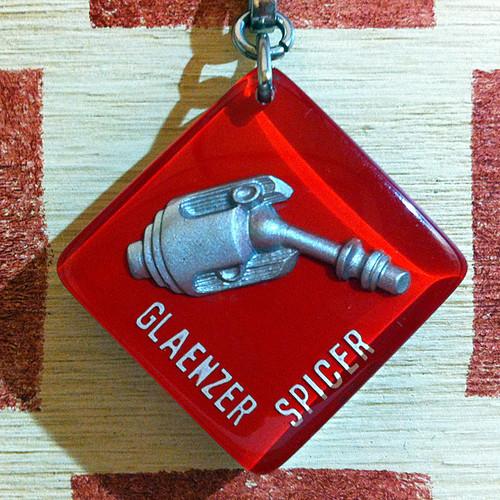 フランス GLAENZER SPICER[グランゼール・スピセール]自動車部品メーカー広告ノベルティ ブルボンキーホルダー