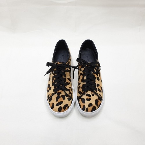予約注文商品 リアルファーレオパードスニーカー スニーカー 韓国ファッション