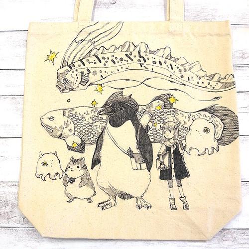 【嶋波誌麻】深海魚パーティー/手描きトート