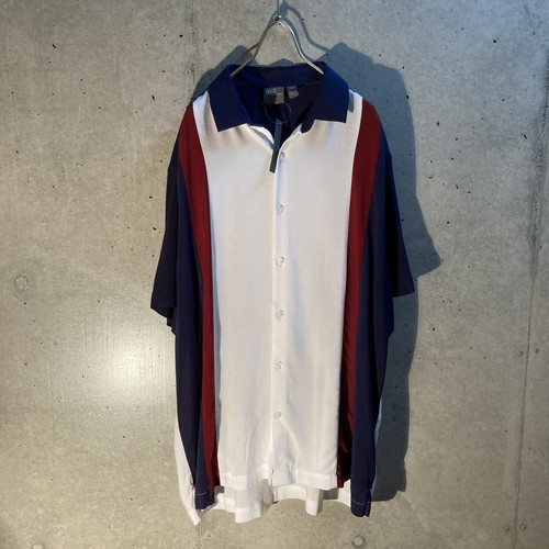 3tone rayon short sleeve shirt