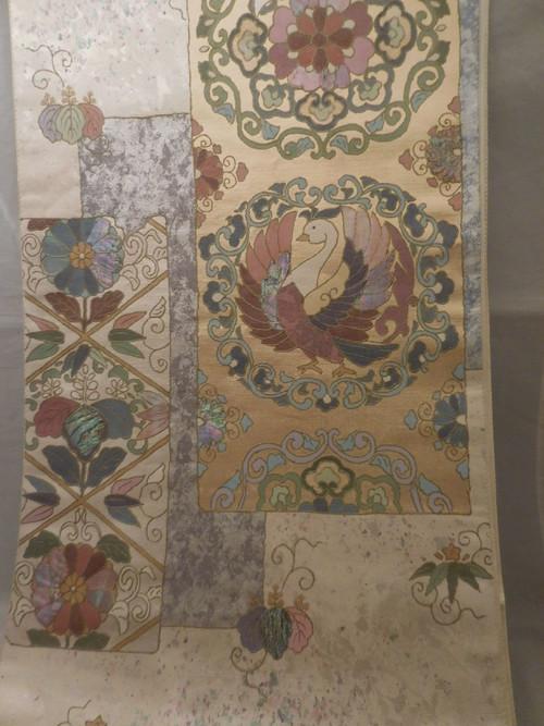 西陣長島螺鈿袋帯 Nishijin Nagashima Fukuro obi sash (No64)