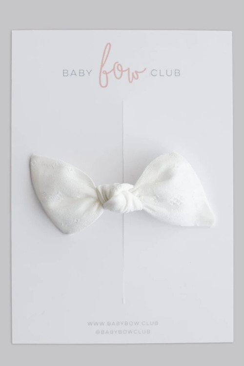 BABY BOW CLUB Diamond White// Clip