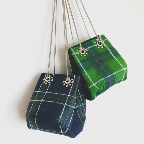 Studs Chain Bag 《tartan check》