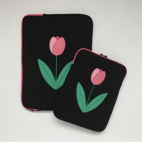 tulip tablet / laptop pouch チューリップ タブレットポーチ