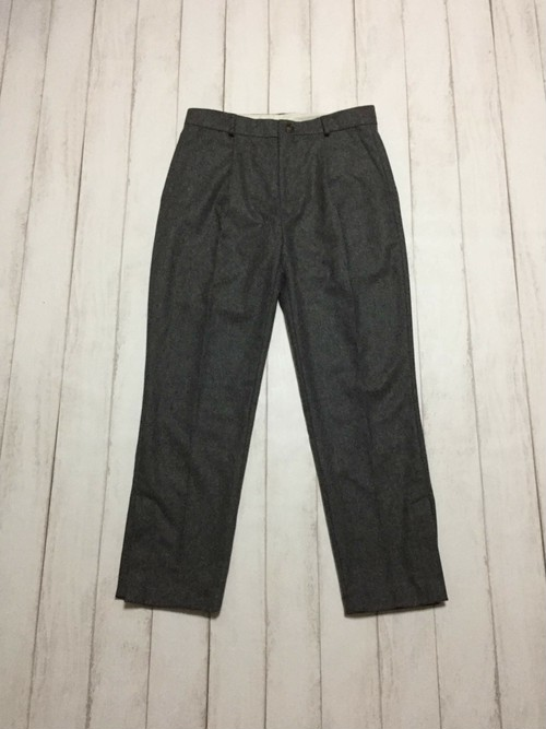side slit wool slacks / light grey