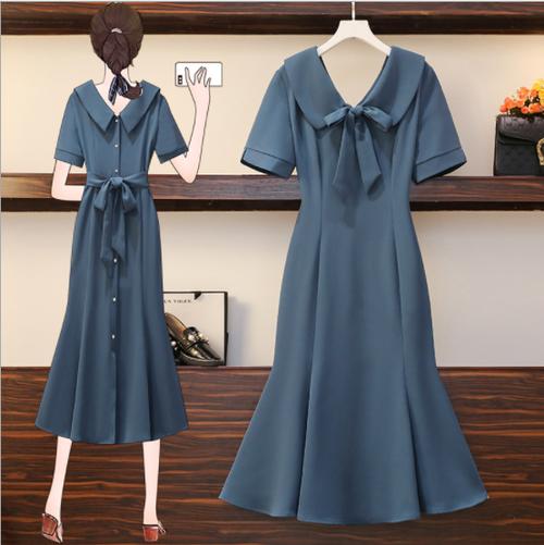 【dress】大人可愛いリボン付きエレガント着痩せデートワンピース N-0147