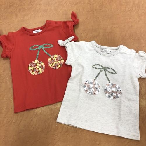 ラポシェビスキュイ さくらんぼTシャツ 20ES024