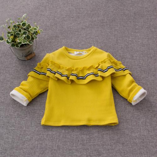 女児 裏起毛 ボトムシャツ 冬 暖かい 手厚い ハーフハイトの襟 児童 ボリスバンベロア A56928-2915104