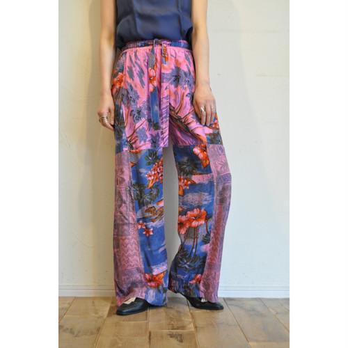 【RehersalL】 aloha easy pants(pink 6) /【リハーズオール】アロハイージーパンツ(ピンク6)
