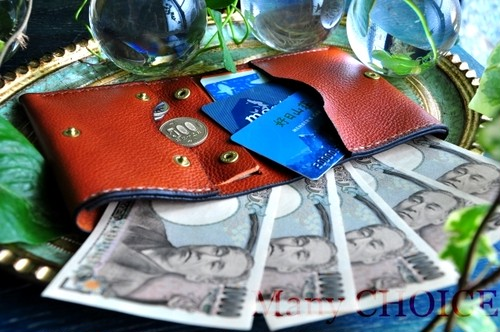 イタリアンオイルレザーアリゾナ・コンパクト2つ折り財布(ウィスキー)