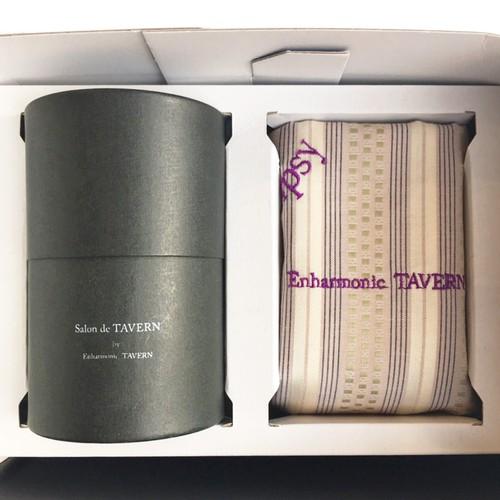 Salon de TAVERN  TEA SET + Handkerchief -pinkbeige stripe