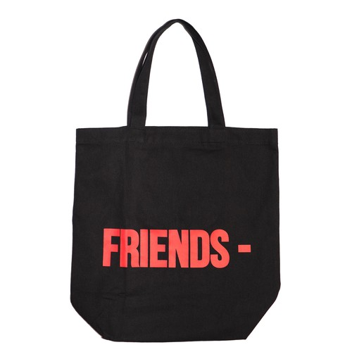 VLONE Logo Tote Bag M BLACK × RED