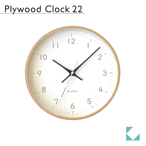 KATOMOKU plywood clock 22 km-121BL 掛け時計
