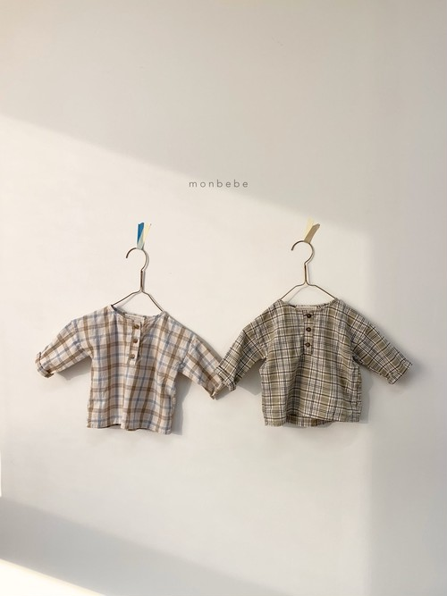 =sold out= check blouse