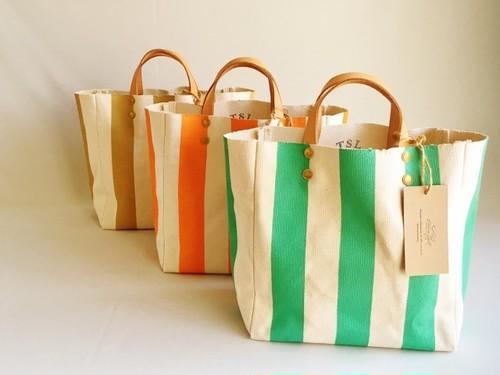 【残1】TSL for WOMAN Stripe canvas bag S/ストライプキャンバスバッグ