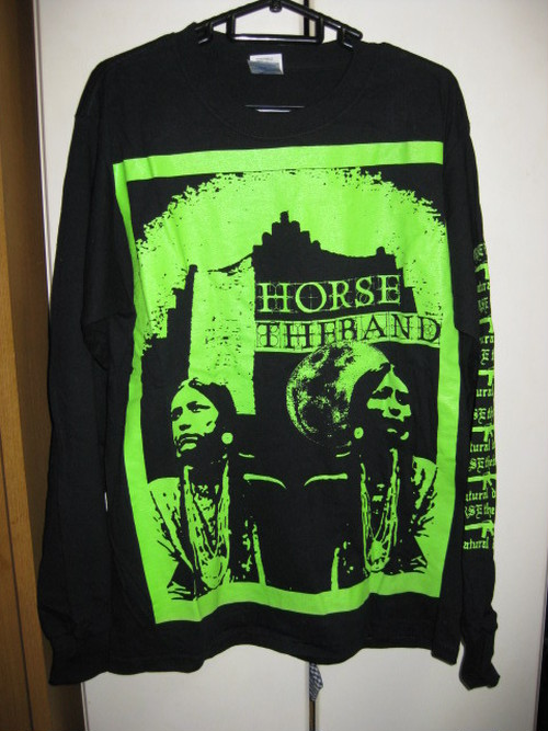 HORSE THE BAND black LONG T-SHIRT [M] USED