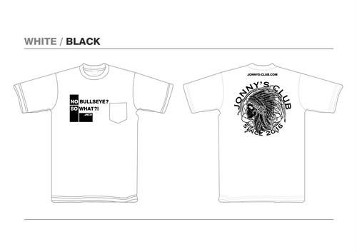 JONNNY'S CLUB Tシャツ ホワイト 生地 / ブラックプリント [WBK]