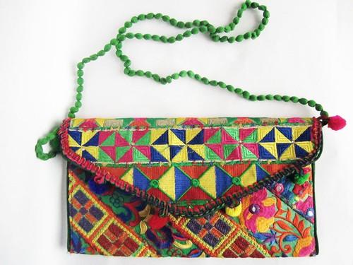 パキスタン刺繍バッグ