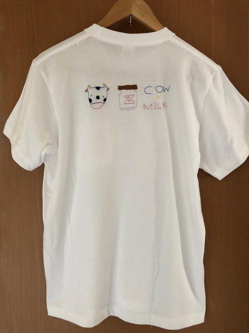 オリジナルTシャツ  白  【うし】