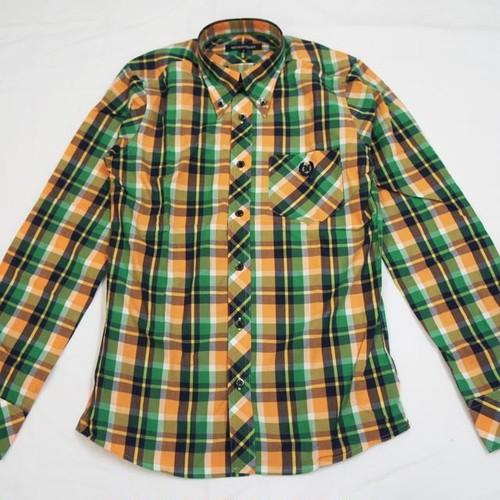 VIVID COLOR CHECK 長袖BDシャツ ORENGE/GREEN/NAVY/WHITE
