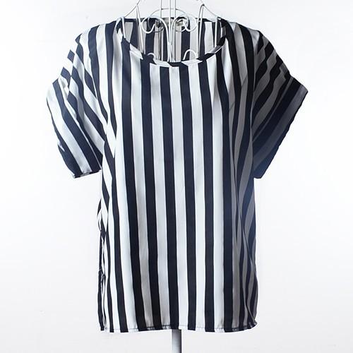 ストライプ柄★シフォンブラウスシャツ
