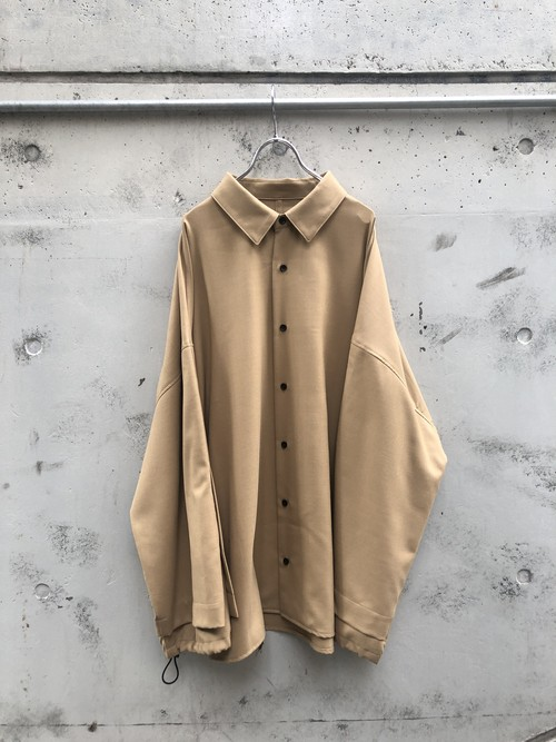 『my beautiful landlet』twill wool double arm shirt / BEIGE