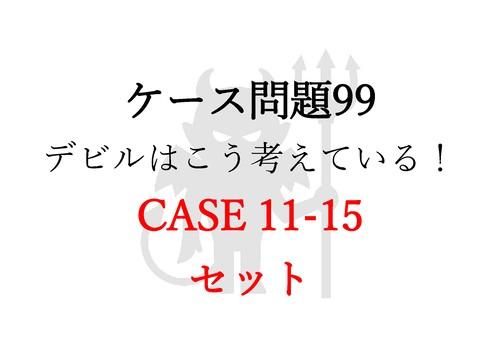 悪魔のケース解説&動画  ケース11-15セット