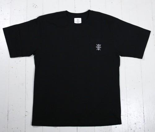 maasaisロゴ刺繍Tシャツ(ポケT)【BLACK】