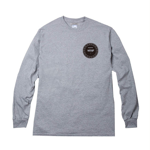 CIRCLE LOGO LONG SLEEVE TEE SPORTS GRAY COLOR